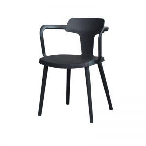 PP-1610 BK Plastic PP Chair Black
