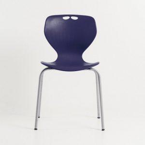 MATA designer plastic chair-Blue