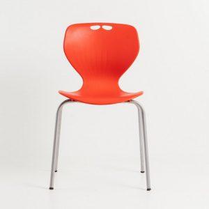 MATA designer plastic chair-Red