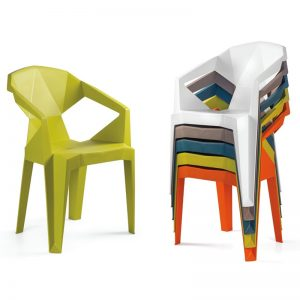 MUZE stackable designer plastic chair-5 colors