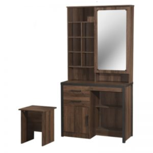 DT-B803 Chipboard Dressing Table With Stool Brown Oak