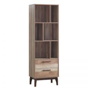 BS-6020 Chipboard Bookcase Cabinet America Oak