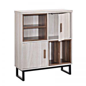 SS-227 Chipboard 2 Door Storage Cabinet White Wash