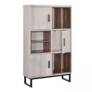 SS-327 Chipboard 3 Door Storage Cabinet White Wash
