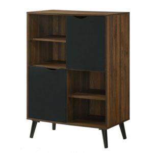 MFC-6233 Chipboard 2 Door Cabinet Columbia + Black