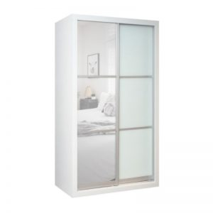 WD-4218 Chipboard 4Ft 2 Sliding Doors Wardrobe White