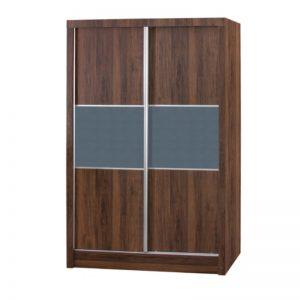 WD-B403 Chipboard 4Ft 2 Sliding Doors Wardrobe Oak