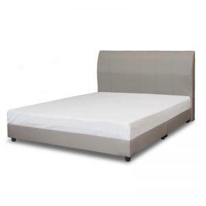 DVB-B1200Q PVC With Plywood + Timber 5Ft PVC Divan Bed With 2Pcs Base (Without Mattress) Grey