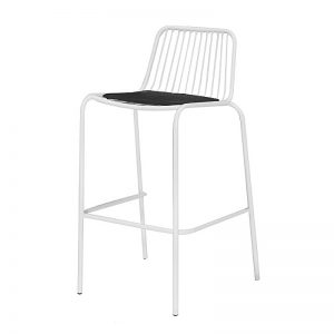 OHC-2103SDW Steel With PU Cover Seat OutDoor High Chair Sandy White