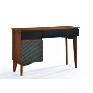 DT-A2005(T) MDF + Solid RubberWood Dressing Table Grey + Walnut