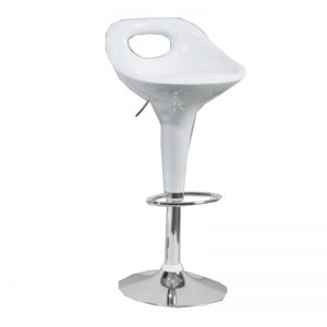 BS-414 WH ABS Plastic Bar Stool White