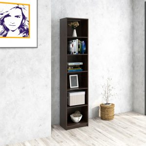 H2883 BILLY narrow 6 tier bookcase- chocolate