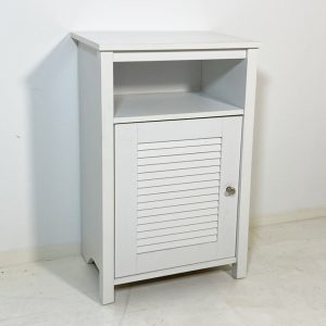GLORY louver door side table-white