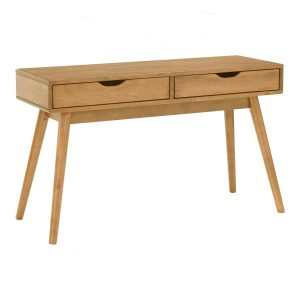 Lamar 4 feet solid wood working desk console table-natural