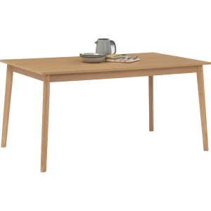 Stark 900×1500 dining table in Natural colour leg, Oak colour top