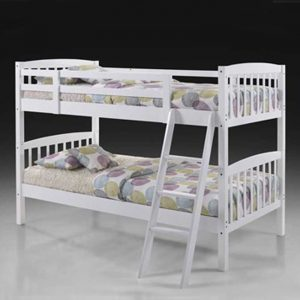 5829 solid wood bunk bed doubke decker-white