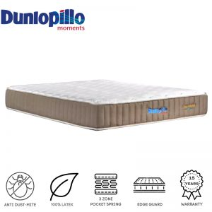 Dunlopillo Eco Living 10.5″ pocketed spring with latex top mattress