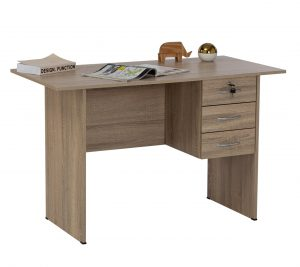 Eco 4 feet Wooden Office Table with 3 drawers
