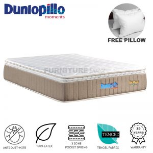 Dunlopillo Eco Haven 12″ Eurotop pocketed spring with latex top mattress