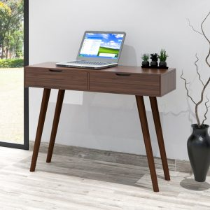 LUCERN 4 feet console table with 2 drawers- Walnut