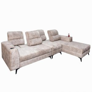 Custom Made- CARRIE 4 seater L shaped sofa with adjustable back rest