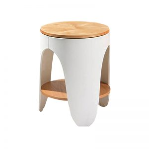 XW-ST-S074A ASH Veneer wood with Polypropylene (PP) frame Side Table White