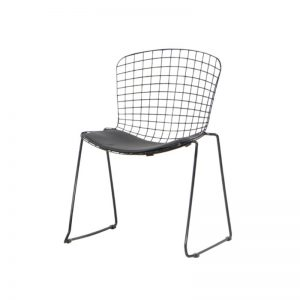 CO-MC18513 PU cushion seat with powder coated metal frame with anti-rust coating Relaxing Chair Black