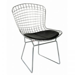 XW-232 Chrome metal frame with PU seat Relaxing Chair Black