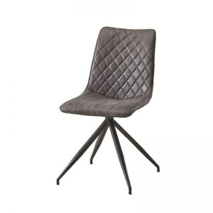 BYM-DC-79033 Fabric uph cushion seat with black powder coated metal leg Dining Chair AS SHOWN