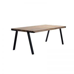 EK-ZL201800283 MDF with paper veneer top & black powder coated metal leg (Waterproof & Anti-scratch) Dining Table AS SHOWN