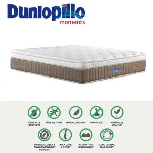 Dunlopillo Luxury Sanctuary 12″ Eurotop pocketed spring with latex top mattress