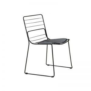 CO-MC18514 PU cushion seat & powder coated metal frame with anti-rust coating Metal Chair Black