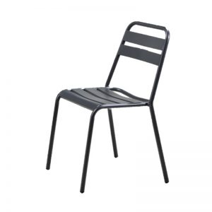 CO-MC 19323A Metal frame in double layer powder coated & anti-rust electrophoresis outdoor treatment METAL CHAIR Sandy Grey