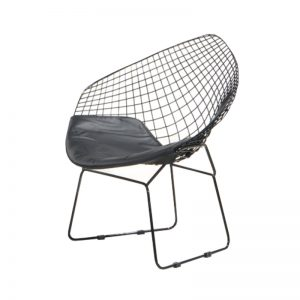 CO-MC18567 PU cushion seat with powder coated metal frame with anti-rust coating Relaxing Chair Black