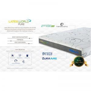 Dunlopillo Pure 12″ Talasilver Latex with DuraAire technology mattress