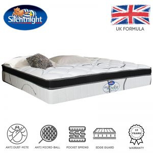 Silentnight Mychoice 12″ pocket spring pillow top mattress