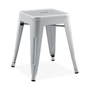 RD-MC009A SGY Powder coated metal frame with anti-rust coating Dining Chair Silver Grey
