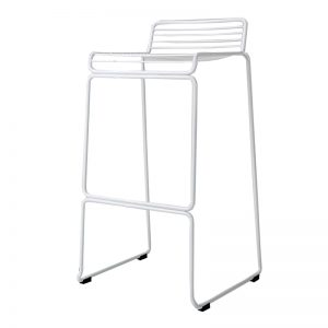 RD-MC134H PU cushion seat with powder coated metal frame with anti-rust coating METAL BAR STOOL White