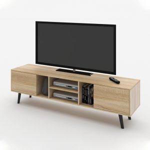 EDMOND 6ft tv cabinet-oak