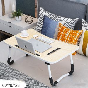 FLT604028 portable folding table with cup and tablet holder