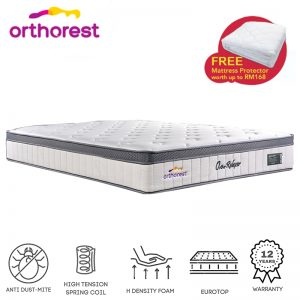 Orthorest Relaxer Eurotop 12″ pocketed superCOIL mattress