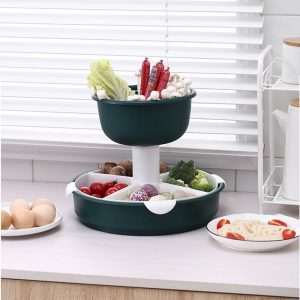 Swivel steamboat ingredient multipurpose tray- 1 tier