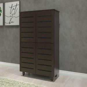 BONTON 4 door shoe rack cabinet – Wenge