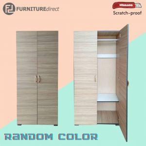 EWP 80CM Full Melamine 2 Door Wardrobe – Random Color