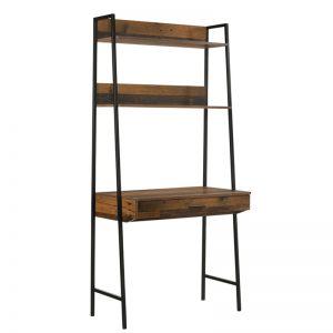 NORMAD industrial style study desk- Rustic Oak