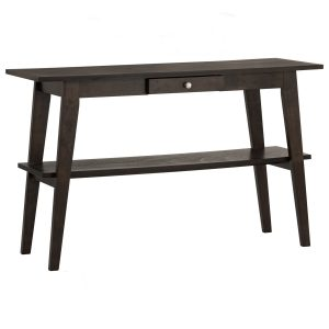 KAEL Solid Wood Console Table – Dark Chestnut colour