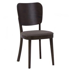 BEVERLY Solid Wood Dining Chair – Dark Chestnut colour leg, Chestnut colour Dimity fabric