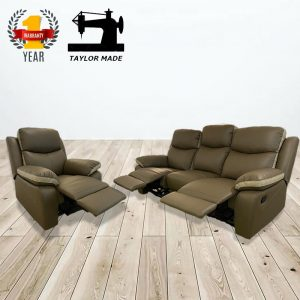 HERBERT 123 seater casa leather recliner- Custom made