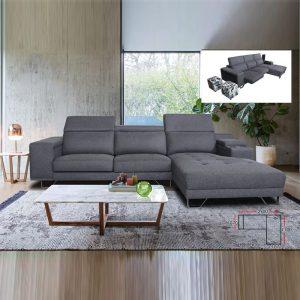 SF1299 BEST custom made 3 seater L shaped sofa