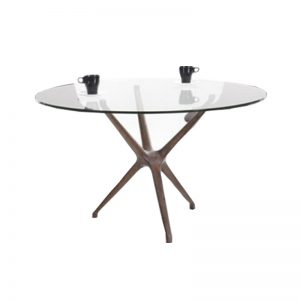 IZABELA DT12 – Round Tempered Glass Dining Table